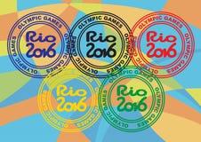 Druck mit der Aufschrift, die Olympischen Spiele Stockbilder