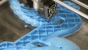 Druck mit Plastikdraht-Faden auf Drucker 3D stock footage