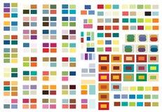 Druck-(oder Web) Farben-Kombinationen Stockbild