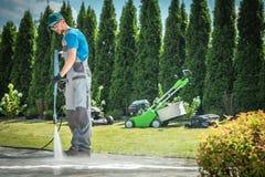 Druck-Reinigungs-Job lizenzfreies stockbild