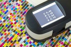 Druck-SpektrofotometerFarbmessung Lizenzfreies Stockfoto