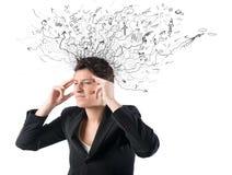 Druck und Verwirrung stockfotos