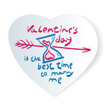 Druck-Valentinsgruß ` s Tag stock abbildung