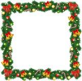 Druck-Weihnachtsgirlandenrahmen Stockfotografie