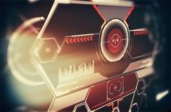 Druck-Zukunftschnittstelle Digital-Elemente Lizenzfreies Stockfoto
