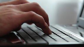 Druck zur Tastatur stock video footage