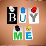 Druckbolzen mit kundengerechtem Wort-Vektor Lizenzfreies Stockfoto
