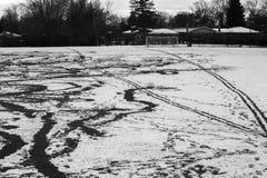 Drucke auf einem Schnee lizenzfreie stockfotos