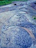 Drucke auf Felsen stockfoto