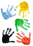 Drucke der Hände des Kindes Lizenzfreies Stockfoto