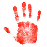 Drucke der Kinder Hand Lizenzfreie Stockbilder