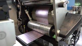 Drucken auf Druckmaschinen stock video footage