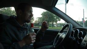 drucken chaufför Fara på vägen lager videofilmer