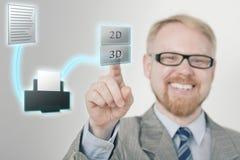 Drucken 3d Lizenzfreies Stockbild