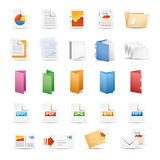 Drucken-Ikonen Lizenzfreies Stockbild