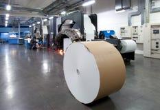 Druckenmaschine: digitale Web-Presse Stockbild