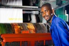 Druckenpressebediener lizenzfreies stockfoto