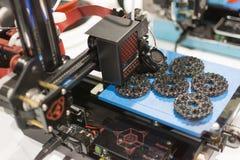Drucker 3D auf Anzeige Lizenzfreies Stockbild