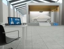 Drucker 3d, Auto druckend Lizenzfreies Stockbild