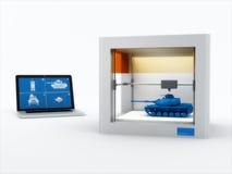 Drucker 3d, Behälter druckend Stockbilder