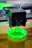 Drucker 3D in der Aktion Lizenzfreies Stockbild