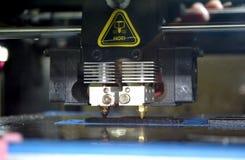 Drucker 3d, der schwarze flache Formnahaufnahme druckt Stockfotos