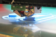 Drucker 3D für Plastik lizenzfreie stockbilder