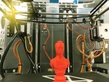 Drucker 3D nach innen stockfoto