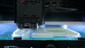 Drucker 3D während der Arbeit Stockfotografie