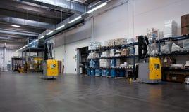 Druckerei: Automatisiertes Lager (für Papier) Stockbild