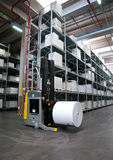 Druckerei: Automatisiertes Lager (für Papier) Lizenzfreie Stockfotografie