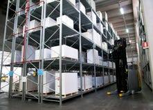 Druckerei: Automatisiertes Lager (Papier) Lizenzfreies Stockfoto