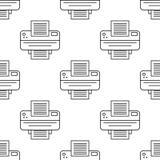 Druckerikone Element der Geräteikone für bewegliche Konzept und Netz apps Musterwiederholung nahtlose Druckerikone Kann für uns v Stockfotos