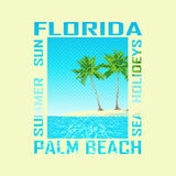 Druckhintergrund Florida Lizenzfreie Stockbilder