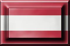 Druckknopf mit der Mischung von Österreich-Flagge Stockfotografie