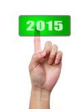 Druckknopf von 2015 Stockfotografie