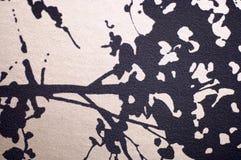 Druckmuster auf Gewebe als Hintergrund Stockbild