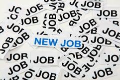 Neuer Job lizenzfreies stockfoto