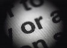 Druckraster in ein Mikroskop Lizenzfreies Stockfoto