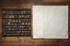 Druckstillleben mit Beschriftung Stockbilder