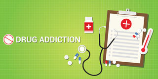 Drug addication concept with pills and medicine Stock Photo