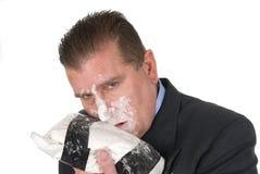 Drug addict businessman Royalty Free Stock Images