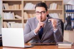 The drug addict businessman in the office Royalty Free Stock Photo