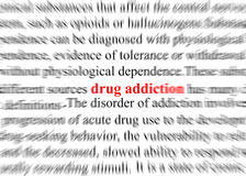 Drug addiction Royalty Free Stock Photos
