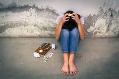 Drug addiction in adolescence Royalty Free Stock Photo