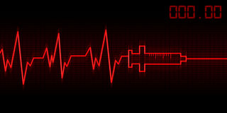 Drug addictive heartbeat Stock Photo