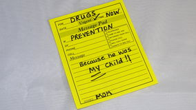 Drug addition prevention royalty free stock image