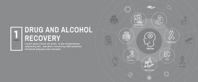 Free Drug And Alcohol Dependency Icon Set & Web Header Banner Stock Photography - 157188912