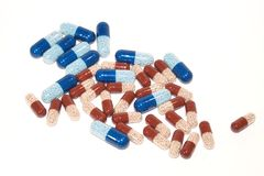 Drug capsules Stock Images