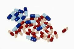 Drug capsules Royalty Free Stock Image